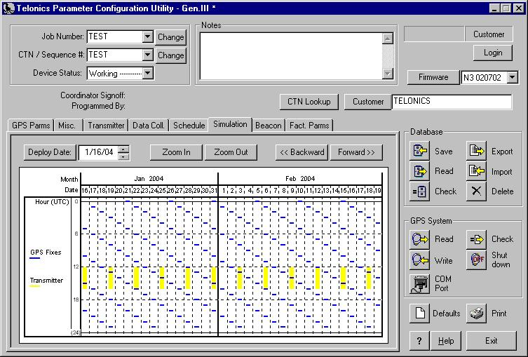 Parameter Configuration Utility for Gen3 GPS - Software   Telonics Inc